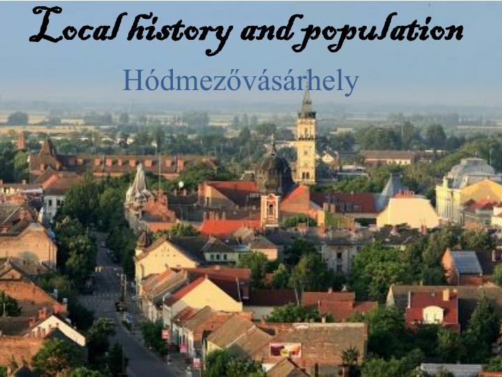 local history and population n.