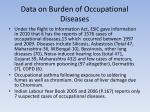 data on burden of occupational diseases1