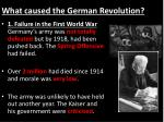 what caused the german revolution