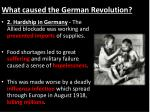 what caused the german revolution1