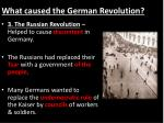 what caused the german revolution2