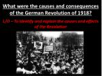 what were the causes and consequences of the german revolution of 1918