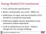 energy model lca conclusions