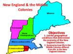 new england the middle colonies
