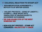 colonial reaction to stamp act