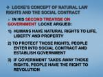 locke s concept of natural law rights and the social contract