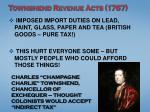 townshend revenue acts 1767