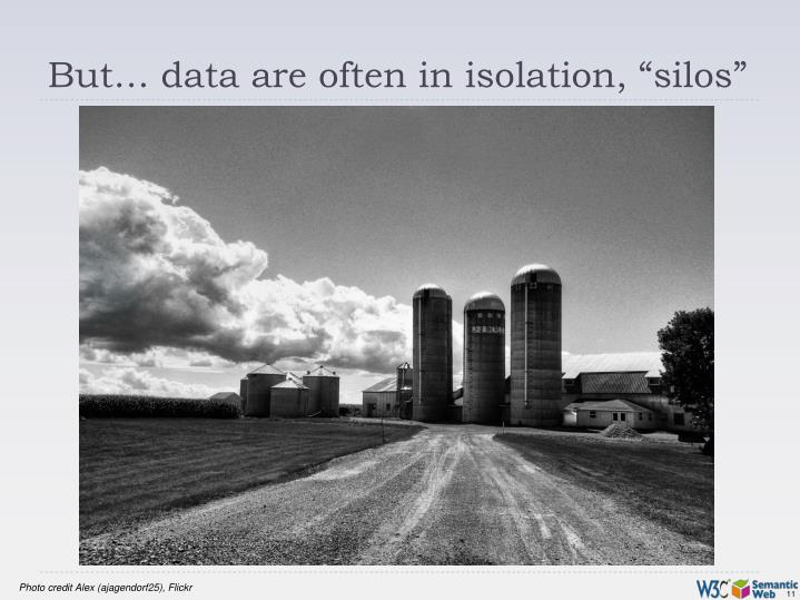 "But… data are often in isolation, ""silos"""
