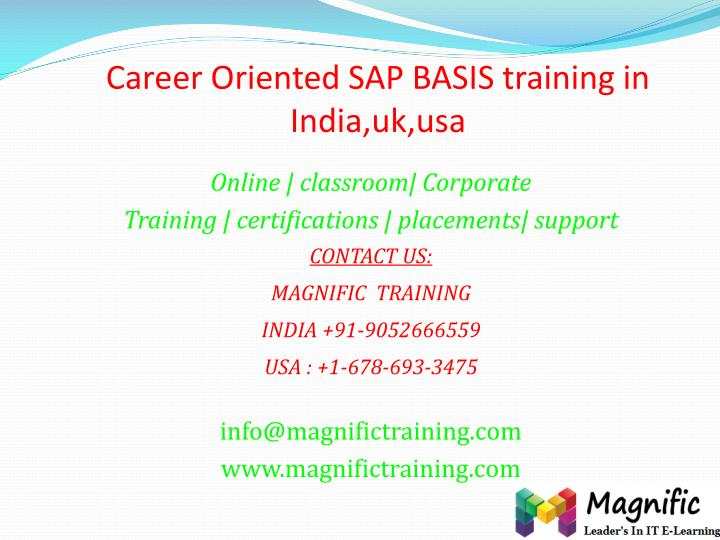 career oriented sap basis training in india uk usa n.