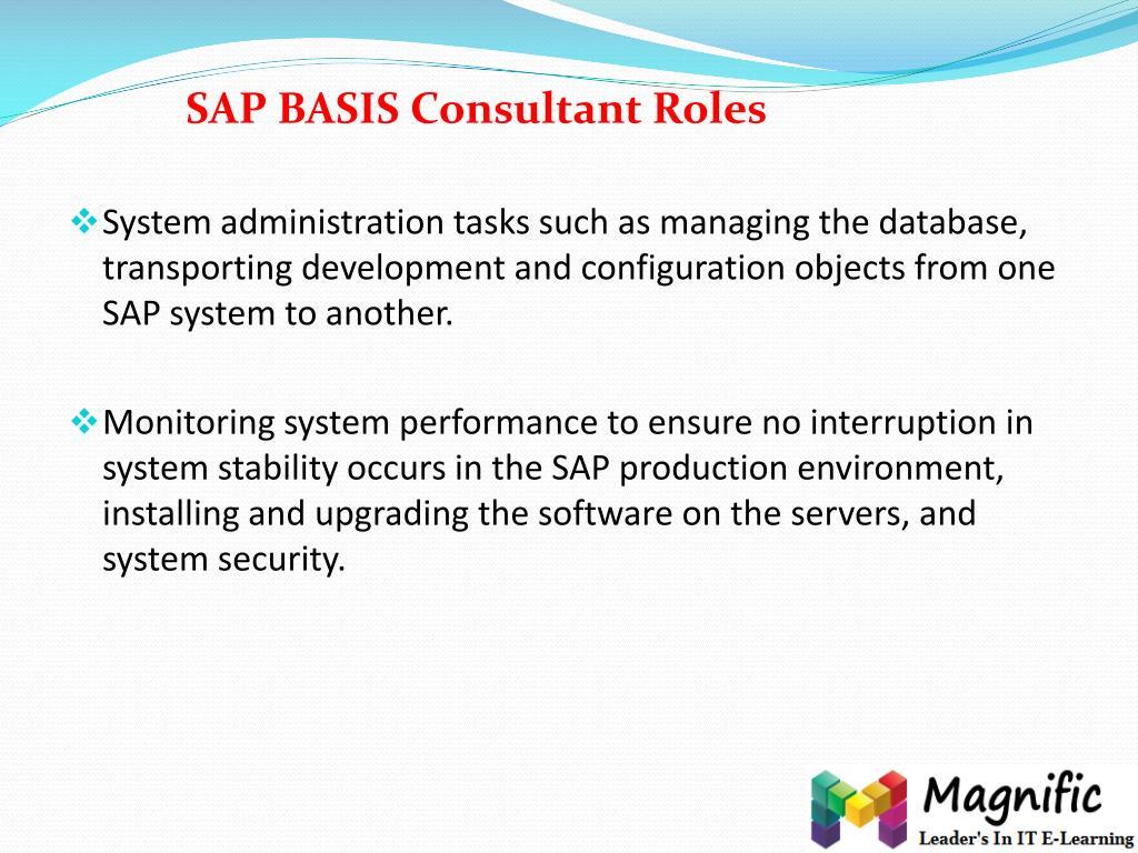 PPT - Career Oriented SAP BASIS training in India,uk,usa
