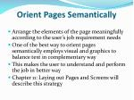 orient pages semantically
