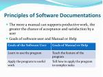principles of software documentations