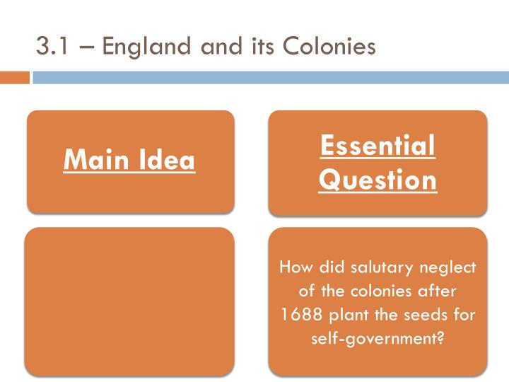 3 1 england and its colonies n.