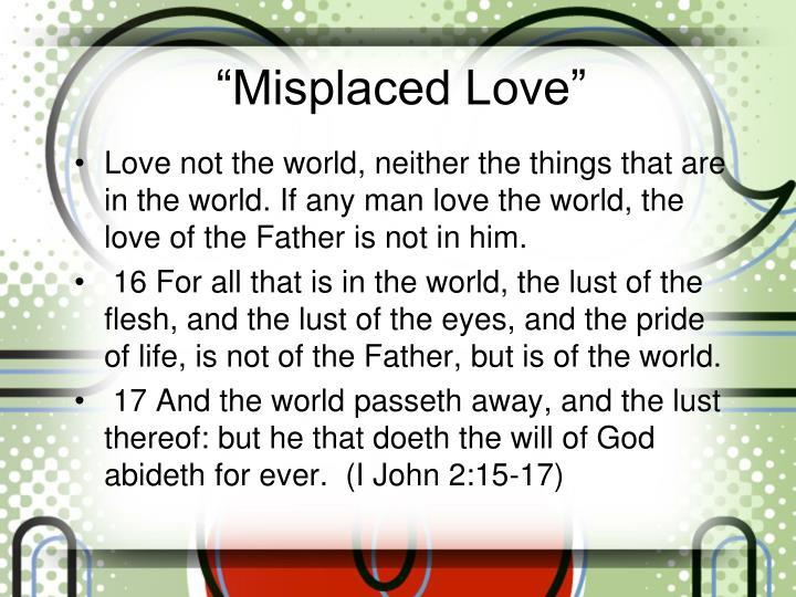 Misplaced love1