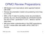 opmo review preparations
