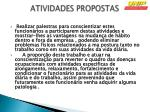 atividades propostas