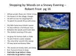 stopping by woods on a snowy evening robert frost pg 16
