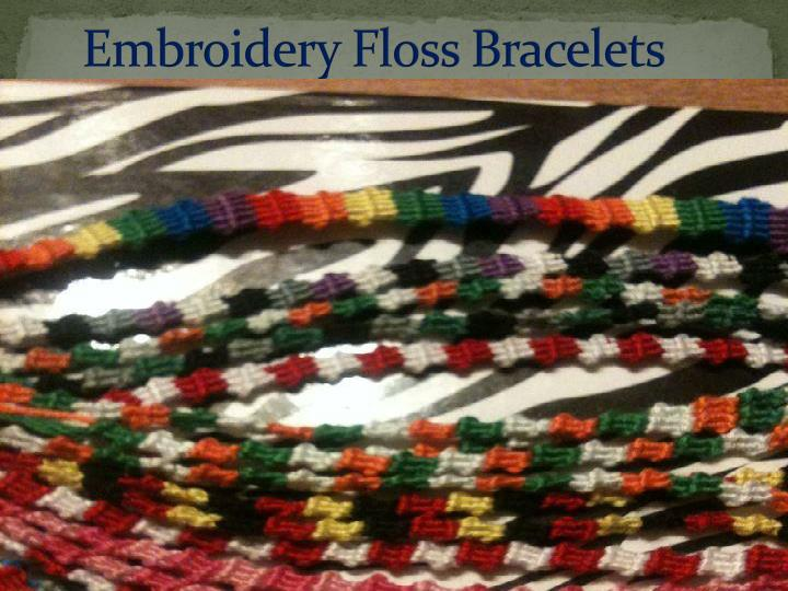 embroidery floss bracelets n.