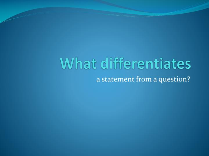 what differentiates n.