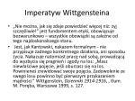 imperatyw wittgensteina