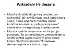 wskaz wki heidegger a