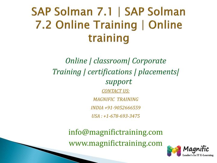 sap solman 7 1 sap solman 7 2 online training online training n.