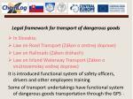 legal framework for transport of dangerous goods