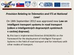 provision relating to telematics and its at national level