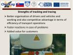 strengths of tracking and tracing