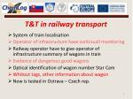 t t in railway transport