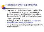 hicksova funkcija potra nje