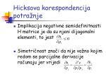 hicksova korespondencija potra nje3