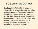 3 causes of the civil war