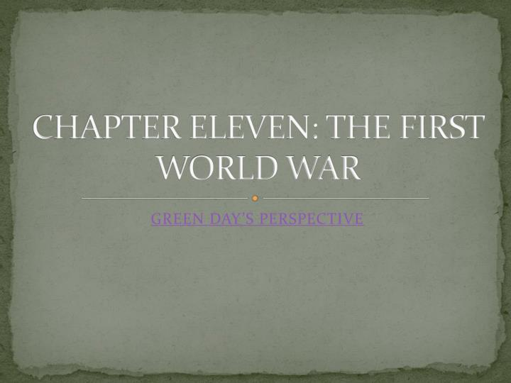 chapter eleven the first world war n.