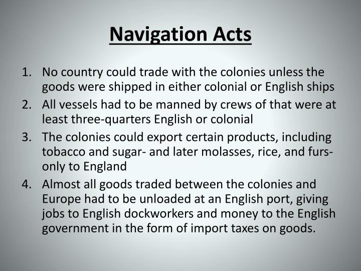 navigation acts n.
