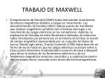 trabajo de maxwell