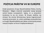 pozycja pa stw v4 w europie