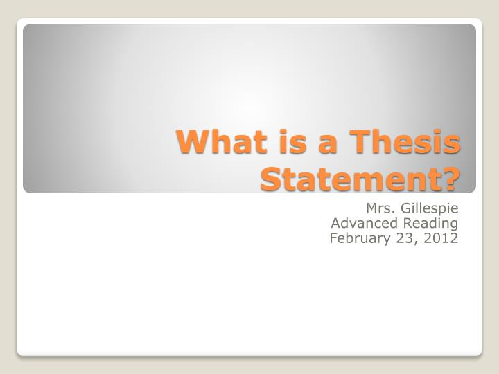 what is a thesis statement n.