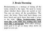 3 brain storming