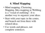 4 mind mapping