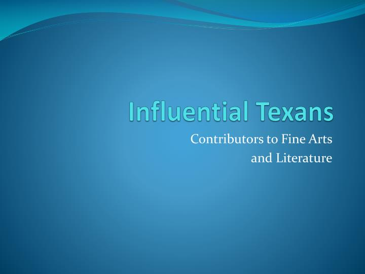 influential texans n.