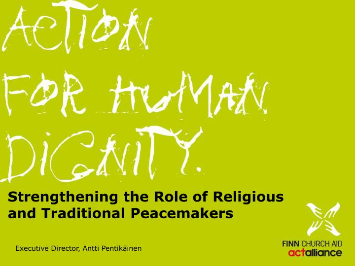 strengthening the role of religious and traditional peacemakers n.