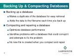 backing up compacting databases