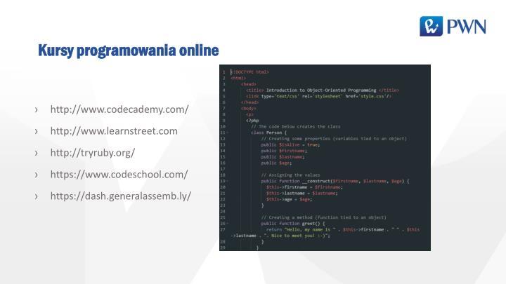 Kursy programowania online