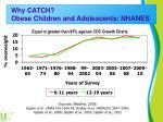why catch obese children and adolescents nhanes