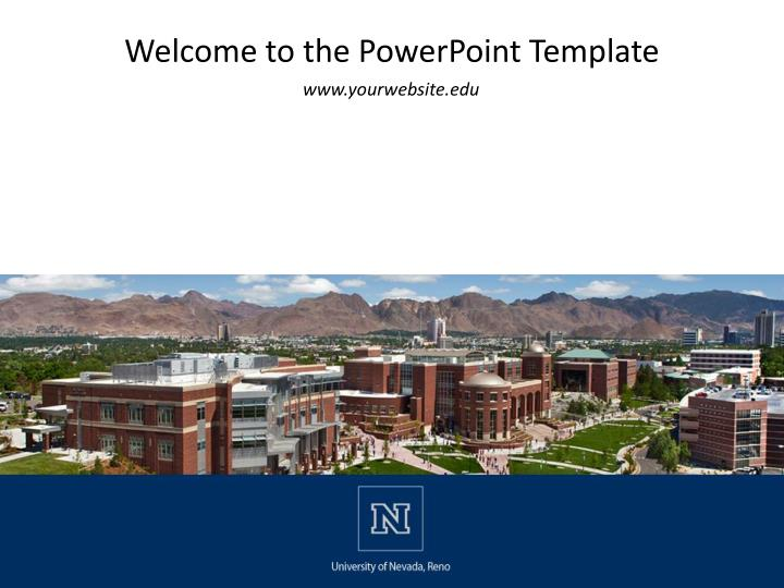 welcome to the powerpoint template n.