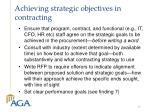 achieving strategic objectives in contracting
