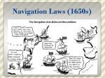 navigation laws 1650s