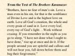 from the text of the brothers karamazov