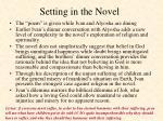 setting in the novel